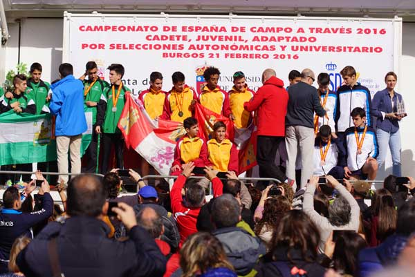 Cto. de España de Campo a Través 2016 Cadete, Juvenil, por Selecciones Autonómicas 21-02-2016