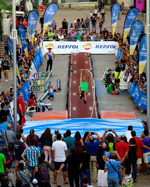Exhibición Pertiga y Altura XVIII Jocs Mediterranis de Tarragona 2017  25-09-2016
