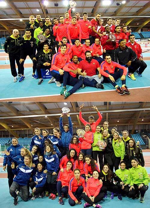 XXXV Copa SM el Rey y SM La Reina de Clubes en Pista Cubierta Gallur Madrid 28-01-2017
