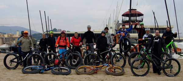 Fat Bike Playa Castelldefels Club Nautico 05-12-2015
