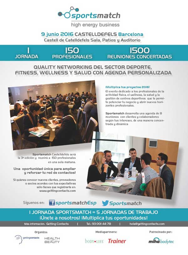 Cartel Info Sportsmatch 9 de Junio Castelldefels Bcn